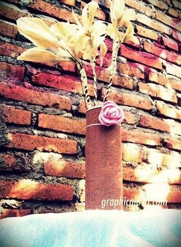 [Recycle] DIY Vas Bunga dari Kaleng Pringles