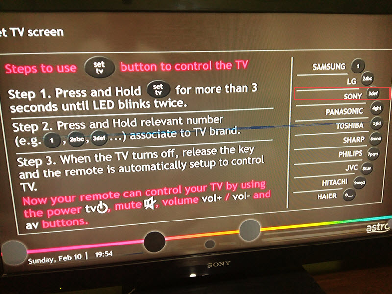 HomeMade DIY HowTo Make: How to set TV button on off for china Astro