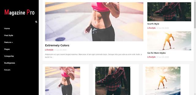 Magazine free blogger template