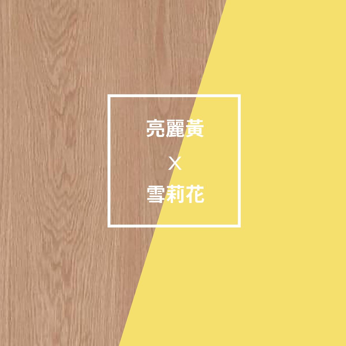 2021pantone代表色與木皮的搭配