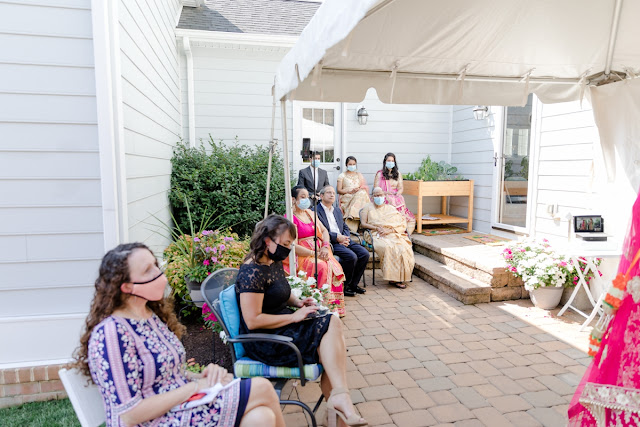 Kent Island COVID Backyard Wedding Photographed by Heather Ryan Photography