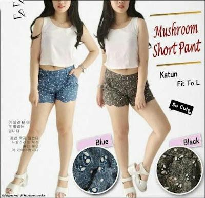 Jual Baju Anak Perempuan Mushroom Short Pants (Kids) - 12310