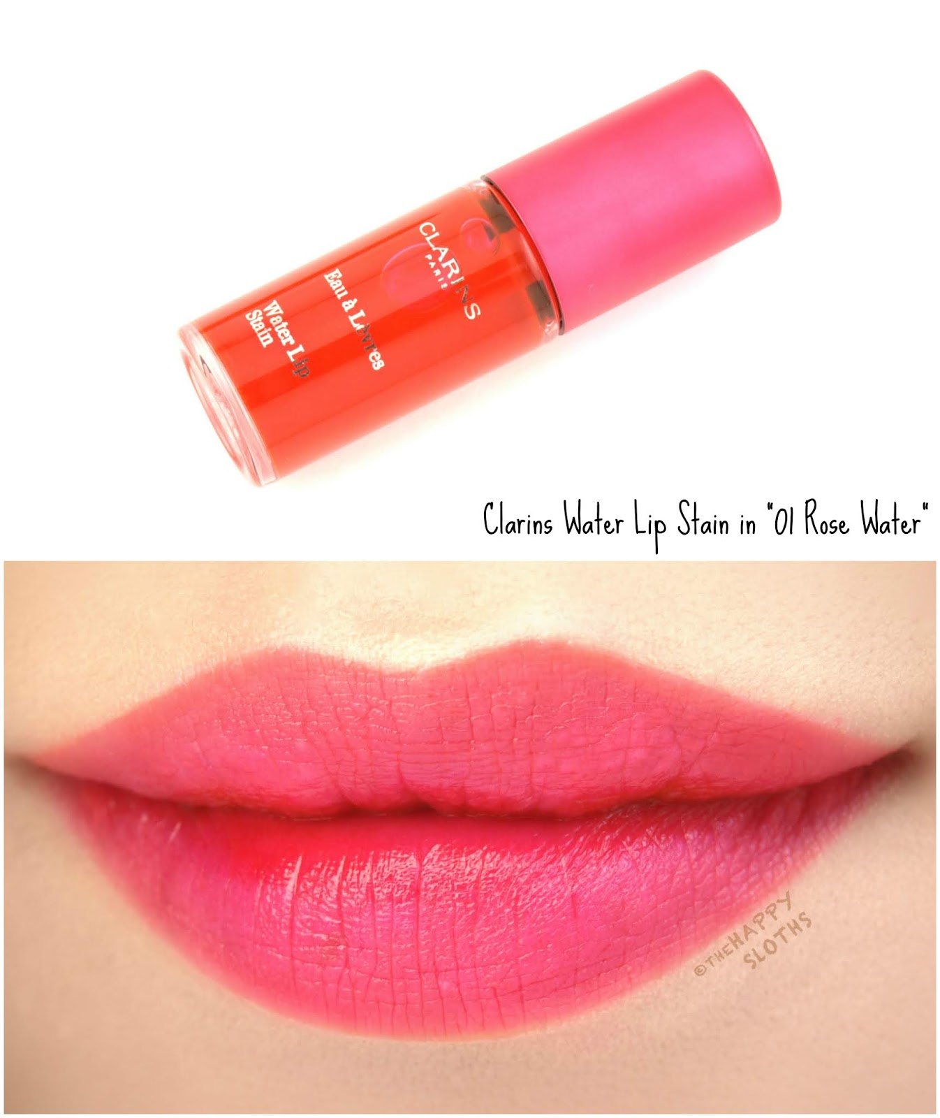 "Clarins | Water Lip Stain in ""01 Rose Water"": Review and Swatches"