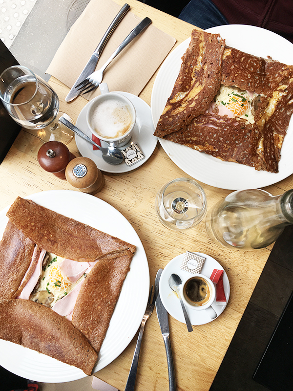 Buckwheat galette crepes