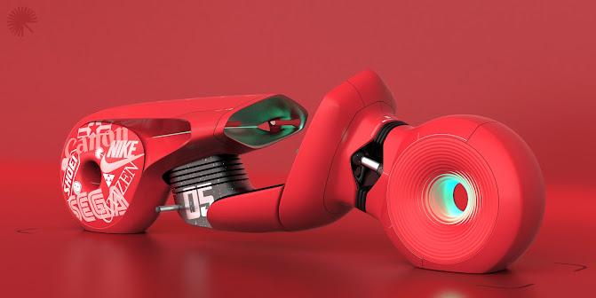Kaneda's Akira Power Bike re-imagined for 2045 by Christoph Proessler