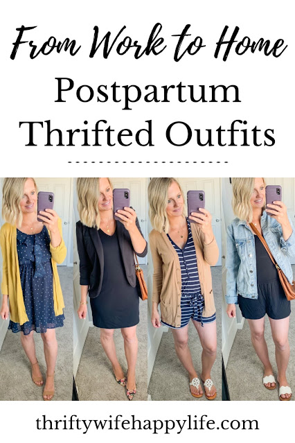 Thrifted postpartum outfits