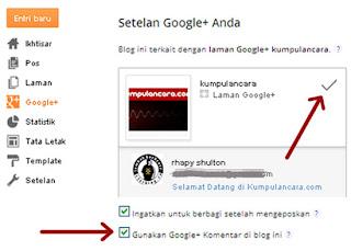 Cara Pasang | Install Komentar Google Plus di Blogger