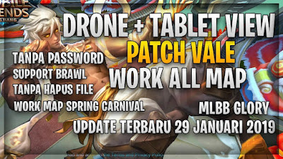 DRONE + TABLET VIEW PATCH VALE WORK ALL MAP SUPPORT BRAWL TERBARU