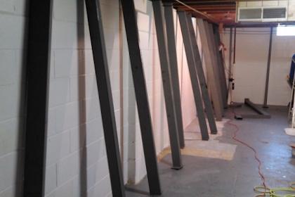 Basement Wall Support I Beams