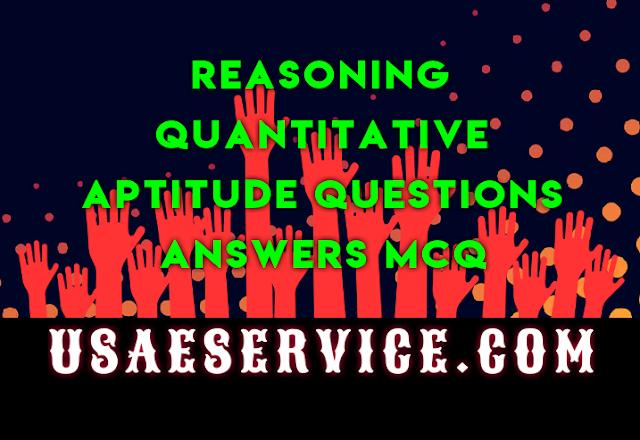 Reasoning Quant Aptitude Usa