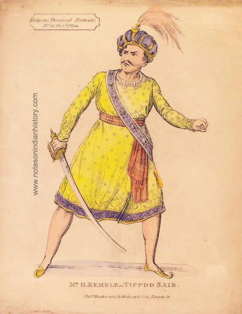 kemble as tipu sultan