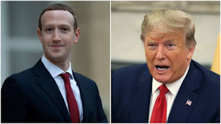 """We have a different policy I think than Twitter on this,"" Zuckerberg told Fox News, Trump's preferred broadcaster."