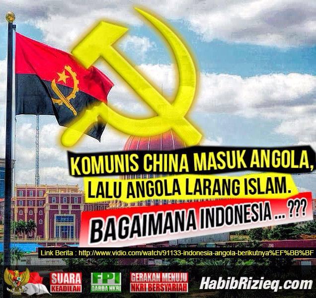 Komunis China Masuk Angola, Islam Dilarang