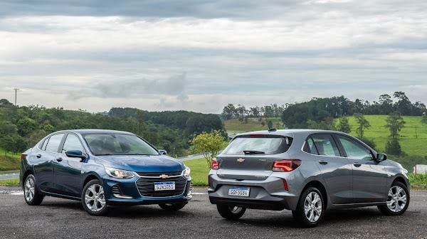 Chevrolet Onix e Onix Plus - carros e as marcas mais vendidas do Brasil em fevereiro de 2021