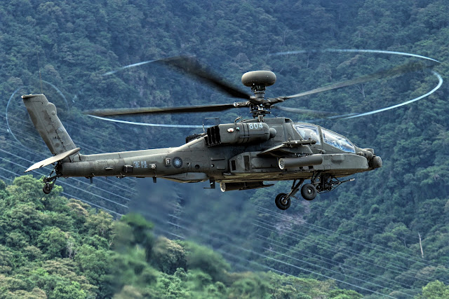 Apache AH-64E of Taiwan Army While Inflight