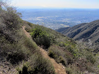 View south from Bailey Canyon Trail above Sierra Madre in the Angeles National Forest