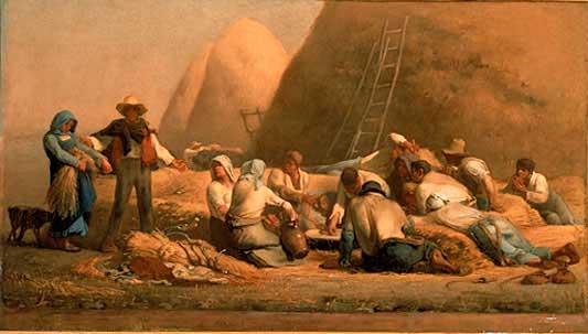 Жан Франсуа Милле - Жнецы на отдыхе. 1853