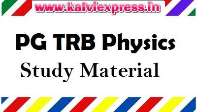 PG TRB Physics