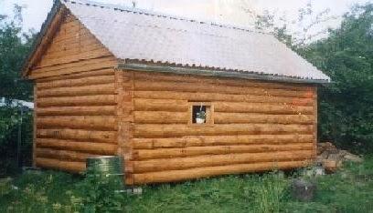 Деревянная баня фото