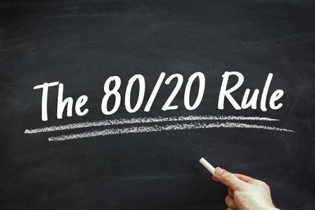قاعدة 80/20 : لما قلة من الناس تحصل على أغلب المكافئات