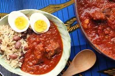 riz haricots ghana chevre mijote