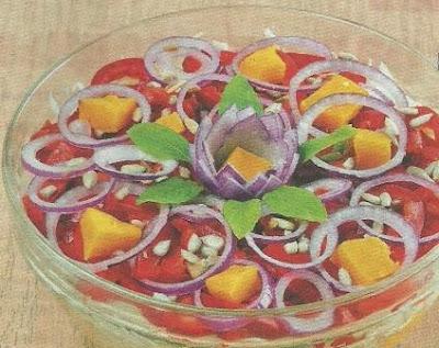 Картофельный салат с запеченной тыквой