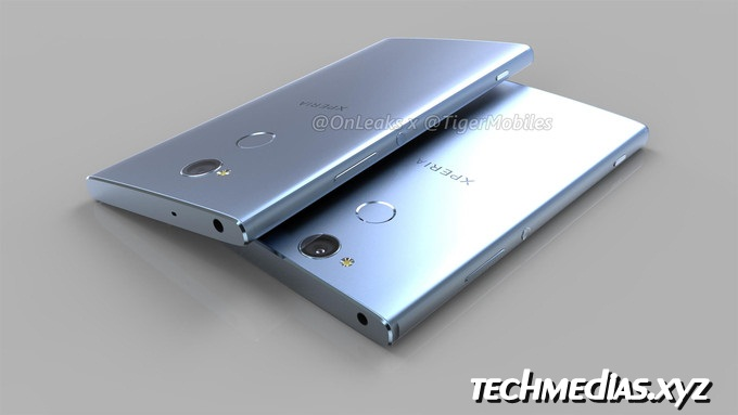 CAD-based renders of the Xperia XA2 and XA2 Ultra reiterate fingerprint on back