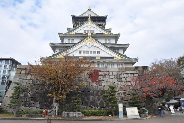 Osaka Castle's green and gold splendor