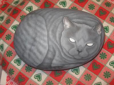 Sassi dipinti lezioni pittura gatti tutorial pittura