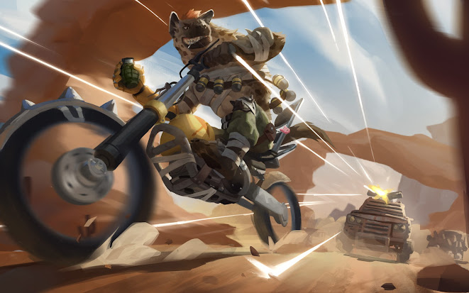 Hand-Grenade Hyena - Illustration by Cody Soh