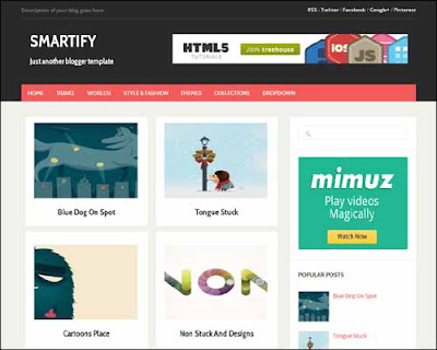 Smartify Responsive Blogger Template