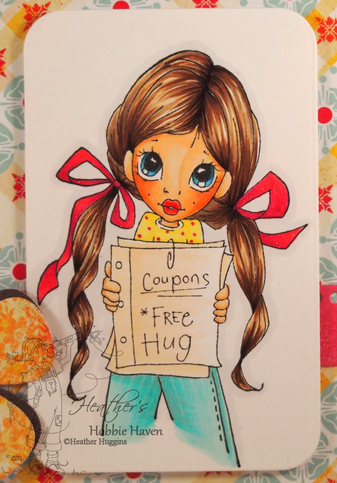 Heather's Hobbie Haven - Free Hug Card Kit