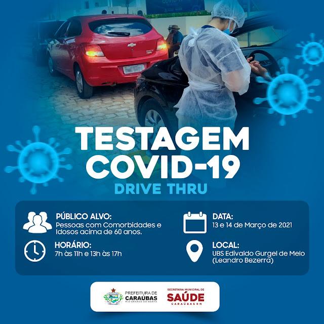 Secretaria da Saúde se prepara para realizar uma testagem direcionada contra Covid-19 no Leandro Bezerra em Caraúbas
