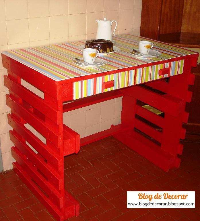 Blog de decorar e o passo a passo de como fazer a mesa - Manualidades hechas con palets ...