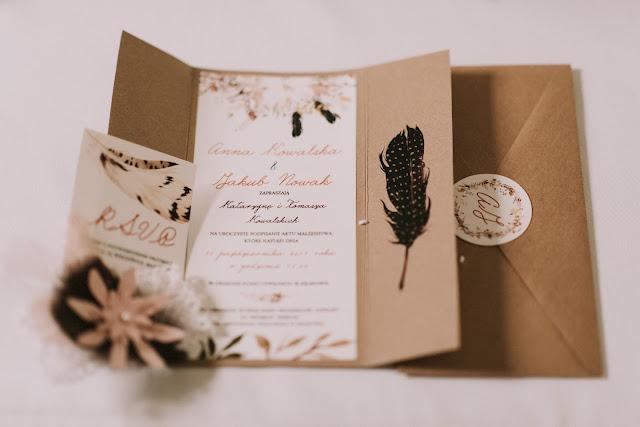 Zaproszenia na ślub w stylu etno.