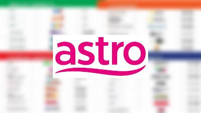 Senarai Channel Astro Terbaru Mulai 1 April 2020