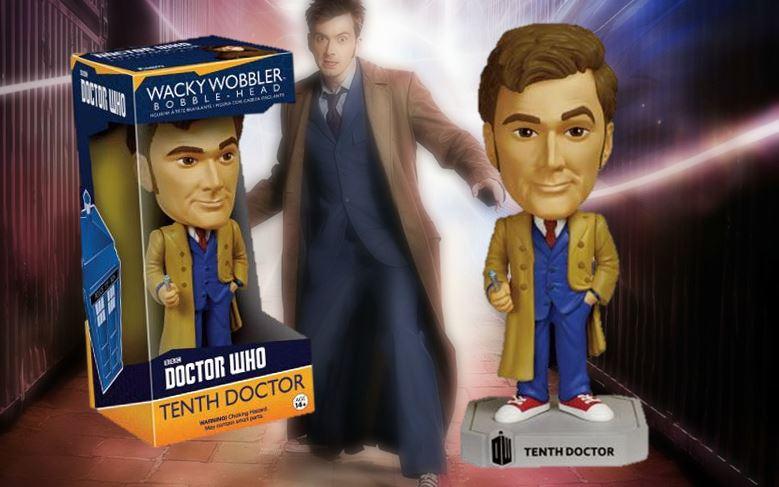 Action- & Spielfiguren DOCTOR WHO TENTH DOCTOR 6 WACKY WOBBLER VINYL FIGURE BOBBLE-HEAD FUNKO