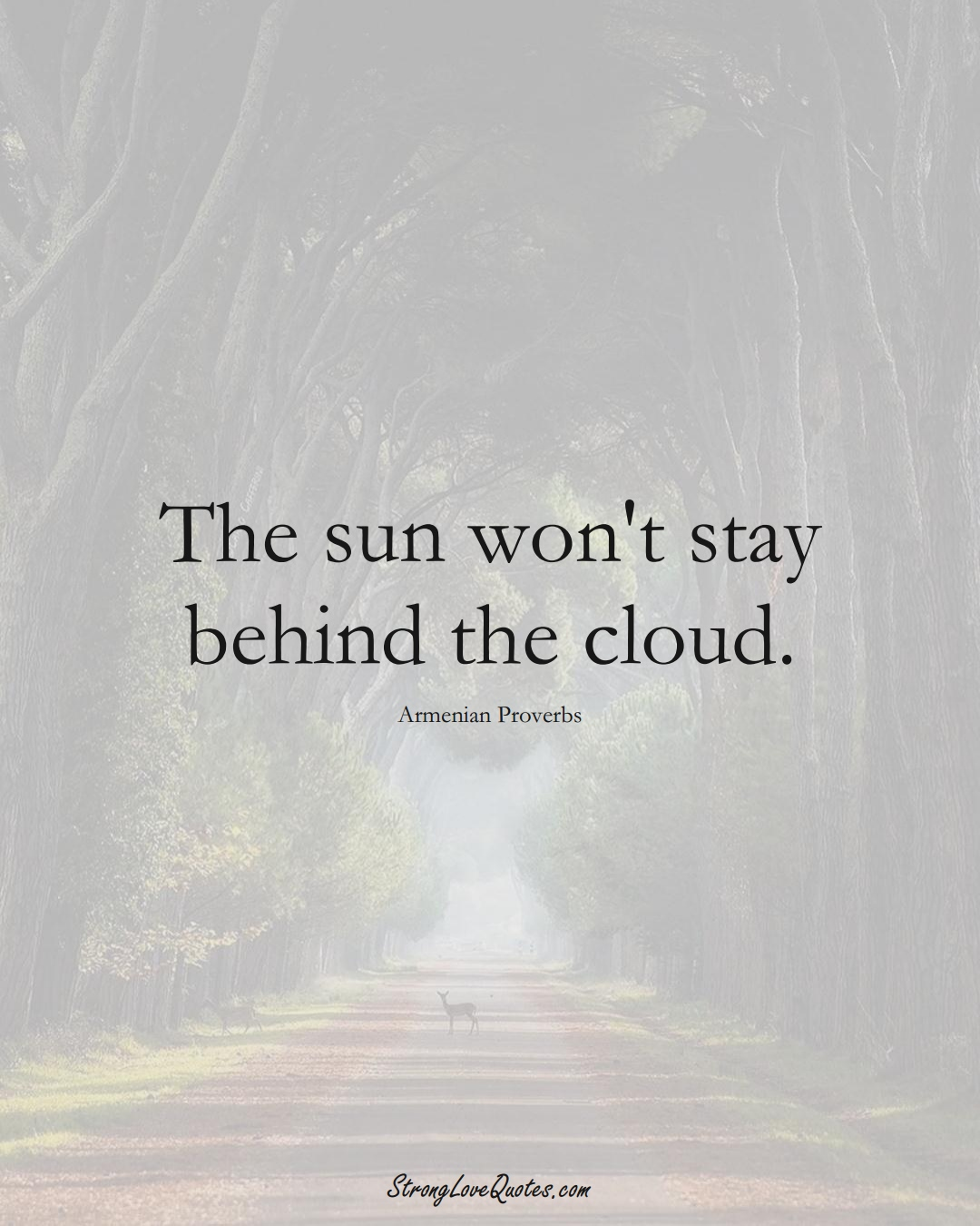 The sun won't stay behind the cloud. (Armenian Sayings);  #AsianSayings