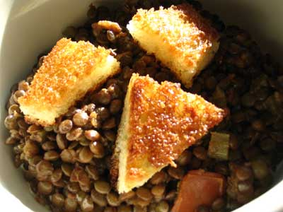 Saffron-Brandied French Lentils