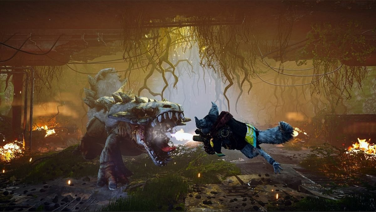 Action game about the fighting raccoon Biomutant