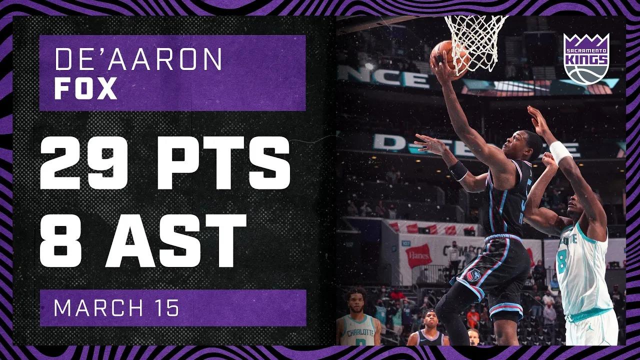 De'Aaron Fox 29pts 8ast vs CHO | March 15, 2021 | 2020-21 NBA Season