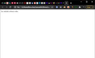 mengenal apa itu html tampilan web browser index.html