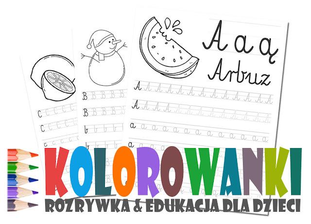 Zabawa i nauka dla dzieci poprzez kolorowanie i pisanie po śladach
