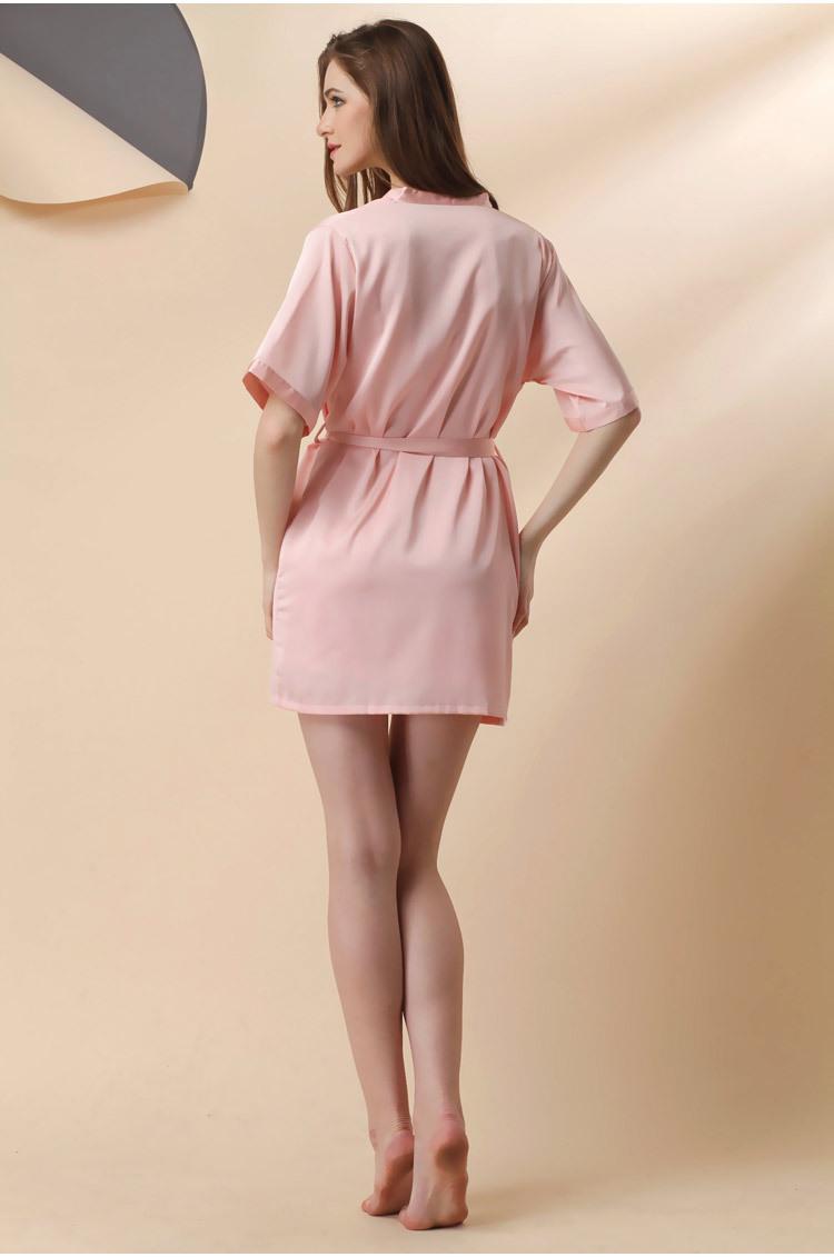 Áo choàng kèm váy lụa cup ngực cao cấp 11
