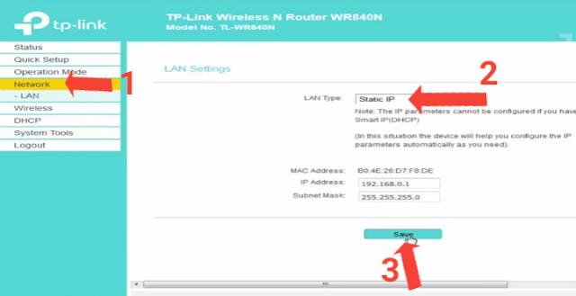ضبط اعدادات راوتر TP-LINK TL-WR840N بالطريقة الصحيحة