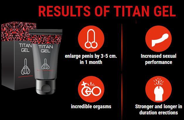 jeffrey monda how many size after using the titan gel