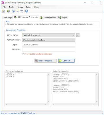 DBA Security Advisor for SQL Server - Screenshot
