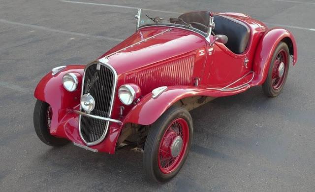 Fiat 508S Balilla Sport 1930s Italian classic car