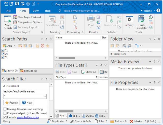 Duplicate File Detective 6.0.69 Professional Edition