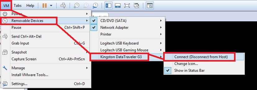 VMWare: Workstation arrancar desde USB   SYSADMIT